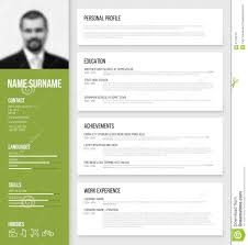 What Is Cv Resume Minimalistic Cv Resume Template Stock Vector Image 57145757