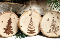 wood burned wildlife ornaments rustic ornaments