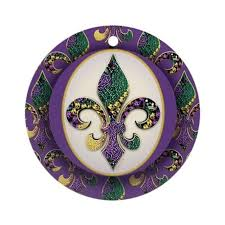 fleur de lis mardi gras fleur de lis mardi gras ornament by artegrity