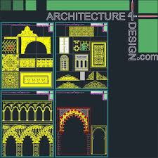 islamic pattern cad drawing 340 islamic architecture ornament motifs and arches for autocad dwg