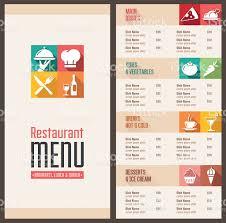 menu template modern menu template stock vector 486101232 istock