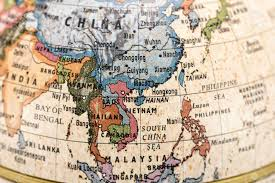 South East Asia Map Close Up Of East And Southeast Asia In The Colorful World Map