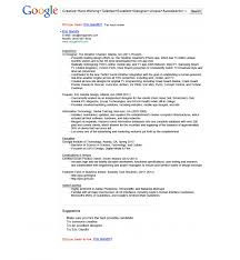 Sample Chronological Resume by Example Of Google Resume Templates
