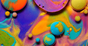 mixing paint oil and milk to create a mesmerizing cosmos of