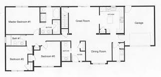 ranch house floor plans open plan left side home provide privacy open floor plan design building