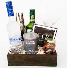 martini gift basket shaken not stirred martini gift