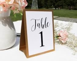 wedding table number fonts wedding table numbers etsy ca