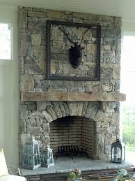 stone fireplace pics install stone veneers over old brick