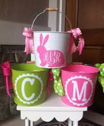 personalized easter buckets create your own easter baskets with vinyl and plastic buckets from