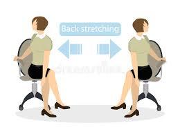 exercice au bureau exercices de sport pour le bureau illustration de vecteur