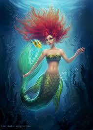 ariel mermaid fanart illuminated deviantart