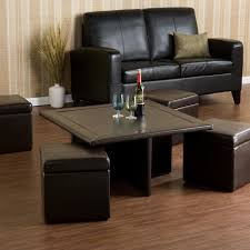 furniture coffee table with storage ottomans ideas black square