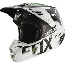 motocross protection gear fox 2017 v2 union le white black green helmet mxstore picks