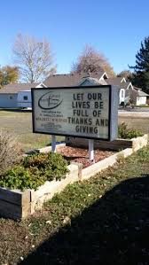 thanksgiving church sign message let our lives be of thanks
