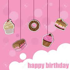 Kids Invitation Card Cup Cake Birthday Card For Birthday Kids Celebration And