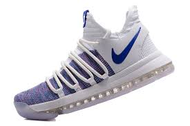 Comfortable Nike Shoes Comfortable Nike Kd 10 X Kevin Durant White Blue Men U0027s Basketball