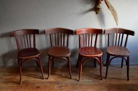 vintage bistro chairs from fischel set of 4 for sale at pamono