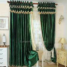 Lime Green Blackout Curtains Classic Green Velvet Blackout Curtain For Living Room And Bedroom