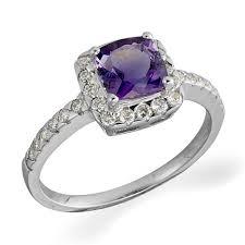 large amethyst diamond white gold 9ct white gold diamond and amethyst ring 0000965 beaverbrooks