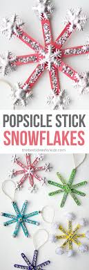 how to make popsicle stick snowflake ornaments an easy tutorial