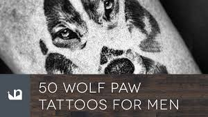 50 wolf paw tattoos for