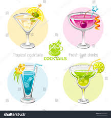 blue martini clip art fresh fruit drink bar logo vector stock vector 503094859