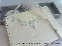 guest book pen vintage memories for wedding