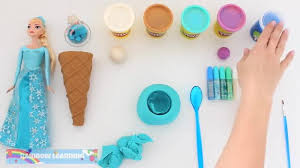 film elsa anak play doh how to make a frozen elsa slime ice cream rainbowlearning