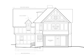 floor plans porch side elevation plan renovation jenkintown pa