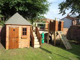 garden playhouse with castle tower playhouses the playhouse