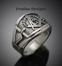 titanium style rings images Masonic ring for men in sterling silver cigar band style 027a jpg