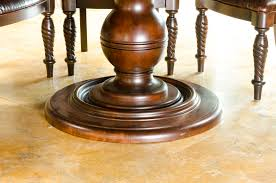 table awesome round wood dining table pedestal base for glass top