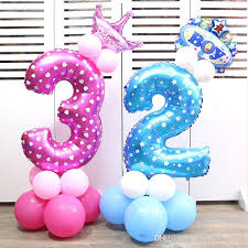 balloon decorations mylar number letter 32 foil number blue pink balloons baby birthday courtship wedding