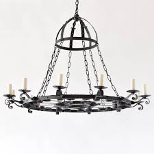 Ring Chandelier Iron Ring Chandelier W Crown The Big Chandelier