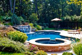 Landscaping Ideas For Small Backyard Swimming Pool With Rock Waterfalls For Small Backyard