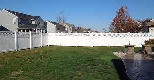 pure white menard snow fence with decorative architecture design