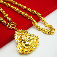 aliexpress gold necklace images Gold necklace men 18k gold chain high artificial gold plated jpg