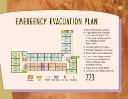 Fire Evacuation Route Plan by Resort Evacuation Map Inroom Exit Maps