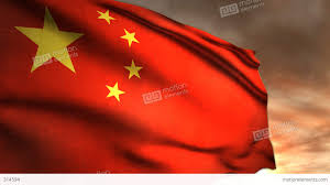 Image Chinese Flag 1187 Communist China Flag Sunrise Sunset Chinese Red Stars Stock