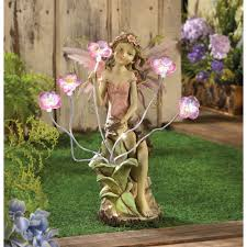 wholesale peony fairy buds solar light home garden decor statue cheap