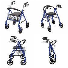 Transport Walker Chair Homcom 24 5l X 22 5w 4 Wheel Folding Walker Chair Back Support