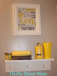 creative yellow and grey bathroom decorating ideas inspirational