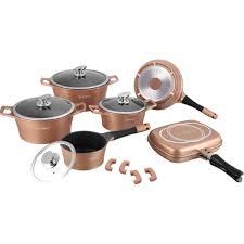 batterie cuisine ceramique batterie de cuisine de 15 pièces en céramique le coin du déstockage