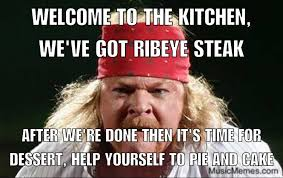 Kitchen Memes - fat axl welcome to the kitchen music memes