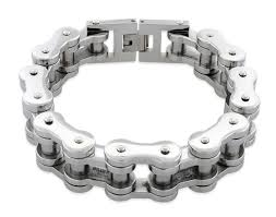 white chain bracelet images Steel very thick motorcycle chain bracelet 18mm jpg