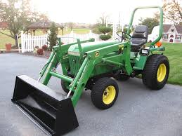john deere 4120 with 400cx loader like the blade on the front