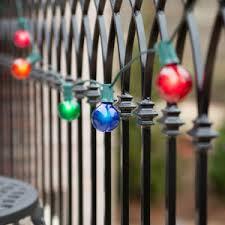 50 u2032 outdoor patio string with 50 g50 multicolor party lights