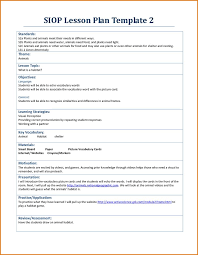 sample siop lesson plan template image result for examples of