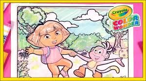 dora the explorer crayola color wonder coloring pages for kids