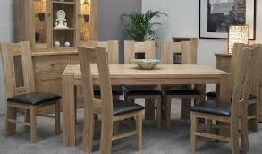 trend solid oak large dining table oak furniture uk